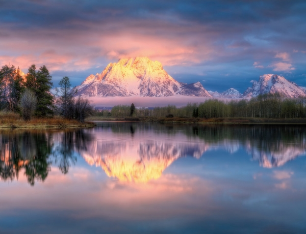 Oxbow Bend, Grand Tetons, USA by Michael Swindle