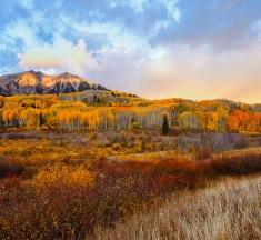 Ruby Mountain Sunrise, Kebler Pass, Colorado, USA by James Covello