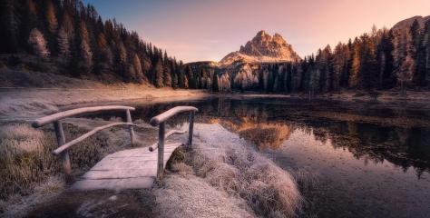 Antorno Lake, Dolomites, Italy by Nico Ruffato