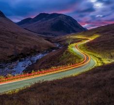 Tail Lights, Glen Etive, Scotland by Michael Blanchette