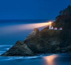Heceta Lighthouse, Oregon, USA by Peter Boehringer