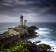 Phare du Petit Minou, Finistere, France by Judith Kuhn