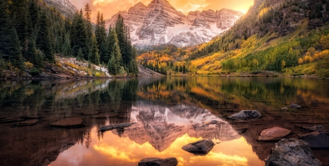 Maroon Bells, Colorado, USA by Joshua Snow