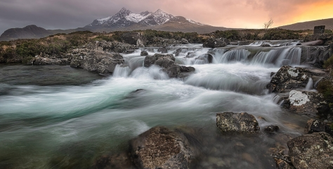 Sligachan Falls, Isle of Skye, Scotland by Pete Rowbottom