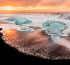 Diamond Beach, Jokulsarlon, Iceland by Stephen Whiston